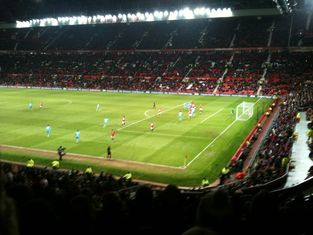 The view from the away end in Manchester Village.