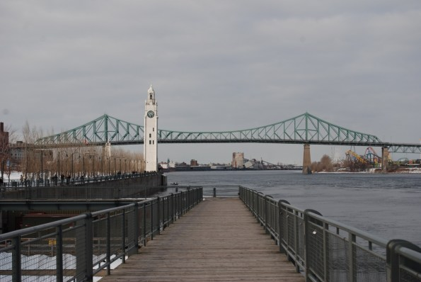 The Jaques Cartier bridge and The Clocktower