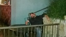 Drunk bloke outside Diablos