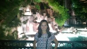 The Wynn waterfall
