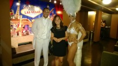 With dancers from Vegas the Show