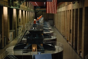 The turbine room, Hoover Dam