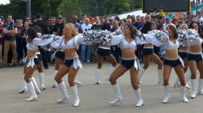 The Raiderettes, outside the ground