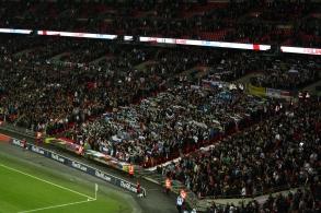 Slovenian fans in full flow