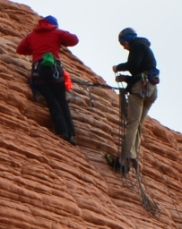 The Climbers Zoomed in from original photo.