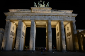 Brandenburg Gate at night