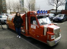 An emergency Curry Wurst Vehicle