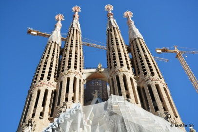 These will be dwarfed by the finished main towers