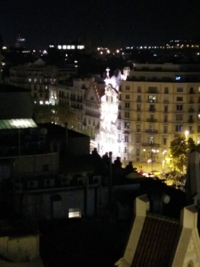 Casa Batllo from the roofgarden bar of the Majestic