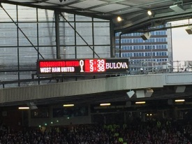 This was about 30 seconds before the equaliser. Doh