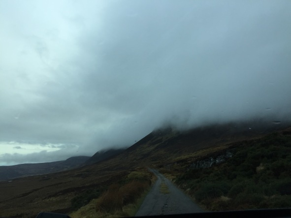 Driving through the clouds
