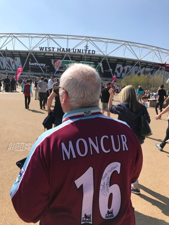 No. He's not back, but that shirt is a legit Johnny Monc shirt