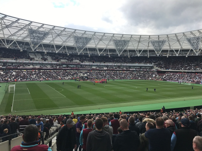 Not quite the sunshine of the last home game