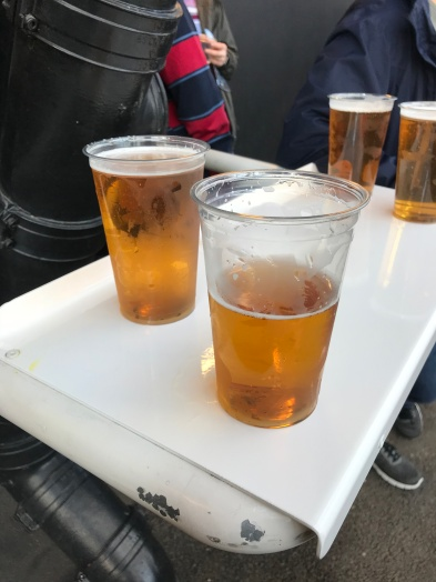 Finally somewhere to put a pint in the Stadium